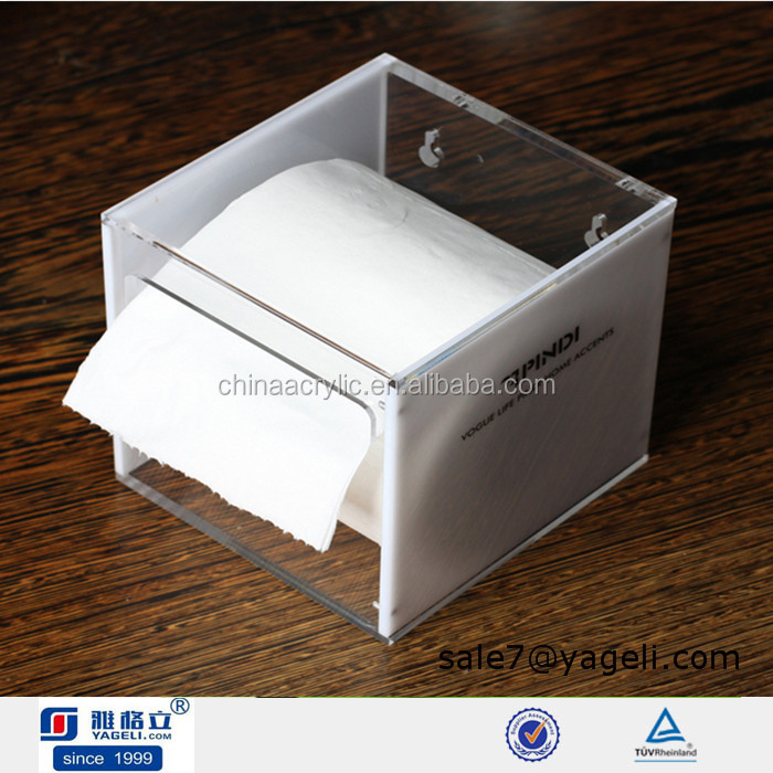 Custom shipping container tissue box cover acrylic cube storage boxes