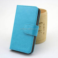 Pure color wallet book style for Blackberry Passport leather case