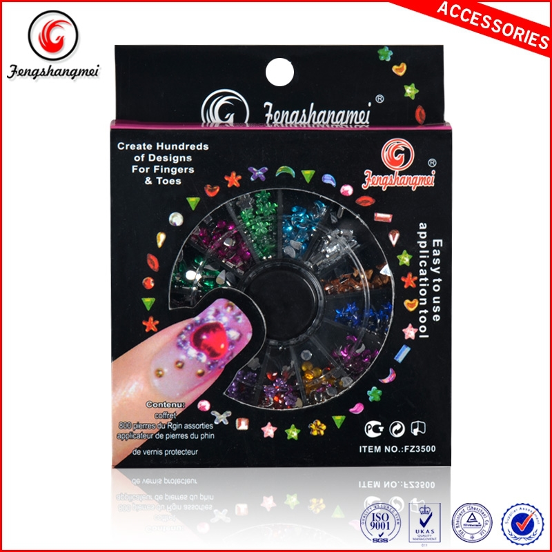 fengshangmei nail art uv acrylic decoration 3d rhinestone nail art nail design