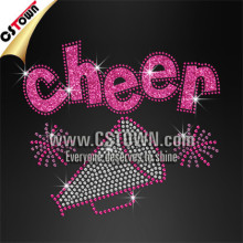 Cheer megaphone best crystal stone hot fix,cheer rhinestone hot fix