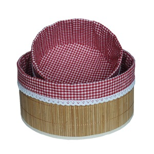 beautiful and round rattan basket indonesia for folding bamboo