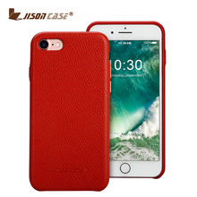 Jisoncase premium Real leather Back Cover cell phone case leather