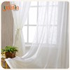 Hot sale white tulle china fabric floral sheer curtains for sale