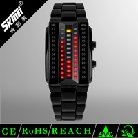 3atm water resistant&night light&date&stop&alarm clock binary touch screen led flashlight watch