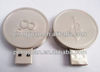 Hot sale OEM promotion gift Metal Coin shape USB pendrive