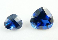 hot sale imitation heart cut blue sapphire