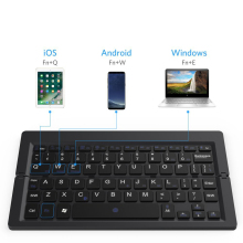 high quality portable wireless foldable bluetooth keyboard for Android ios ipad