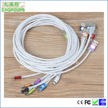 Silver Charging V8 Charging Cable For Cell Phones