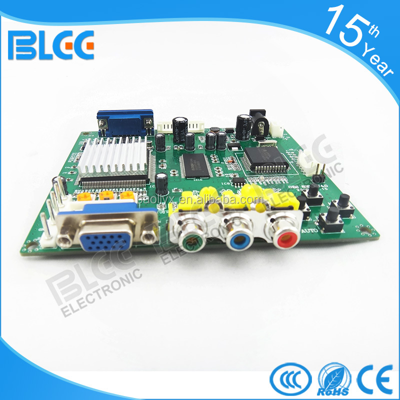 rgb to vga converter pcb hd arcade convertor for LCD monitor machine game cabinet