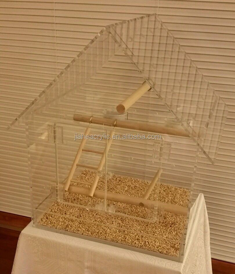 Pet Cages, Carriers & Houses acrylic birdcage acrylic bird cage wood stand accessories