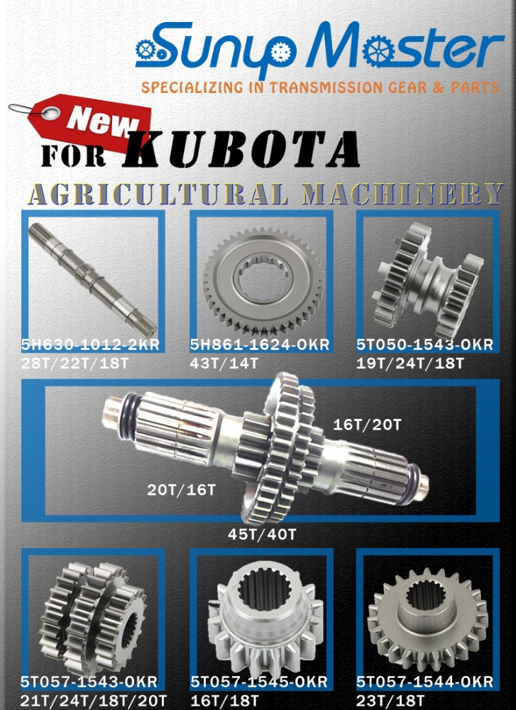 Made in Taiwan transmission gear parts KUBOTA tractor spare parts