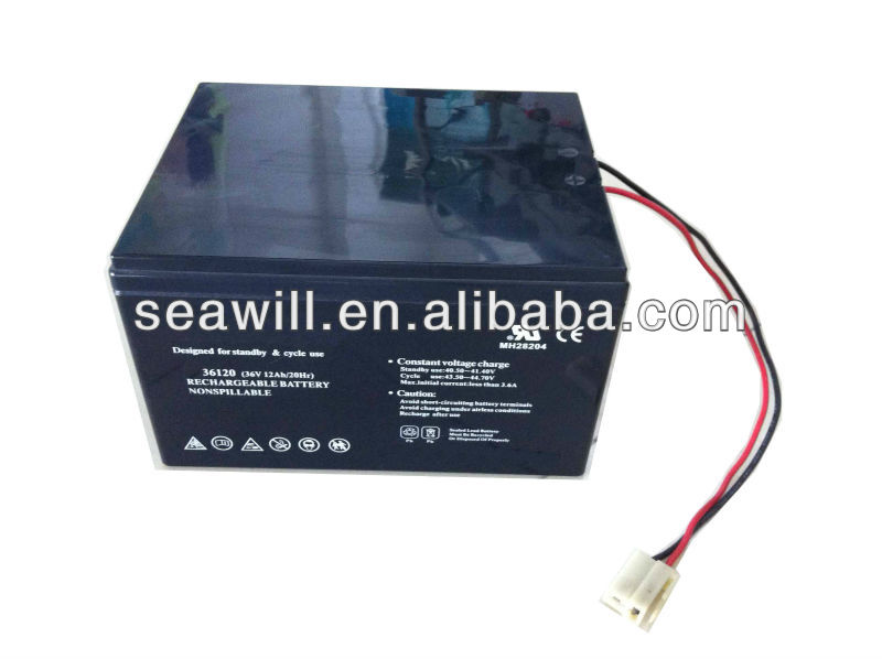 Electric bicycle lead acid battery 36v 12Ah