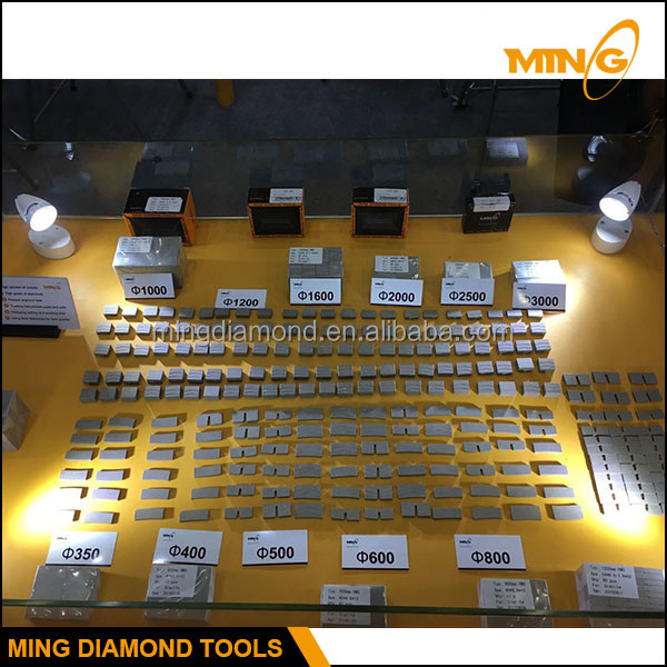 Multi Layer / Sandwich Diamond Segment For Mixed Granite Stone Cutting Used On Single Diamond Disc / Multi Disc