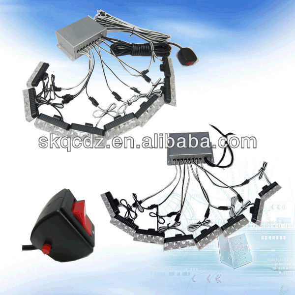 Auto Grille & strobe light /police car grill light/LED dash light