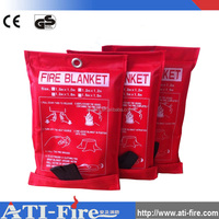 1.2m*1.8m fire blankets packed in red PVC hard box for kitchen use