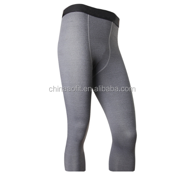 compression men gray black pants copper for trainning
