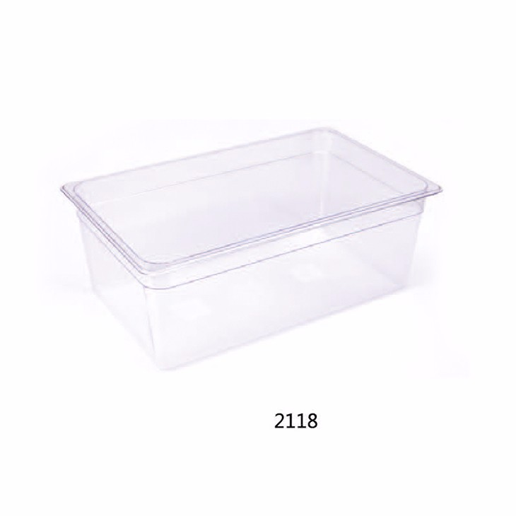 MUK hot selling hotel restaurant PC clear and smooth surface food pan