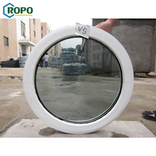 upvc round fixed double glass windows section