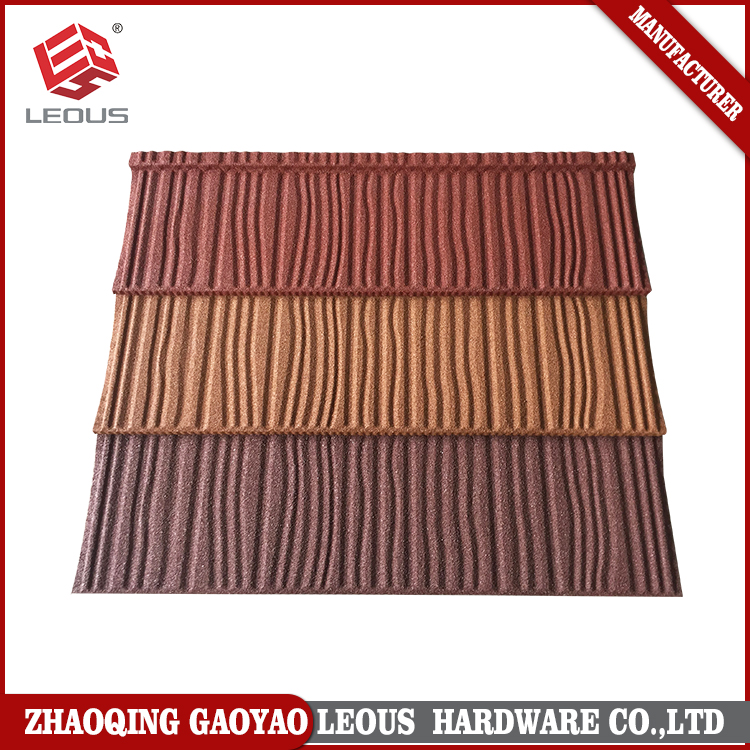 Building material colourful stone-coated metal roofing tiles