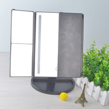 OEM 3 Folding Portable Screen Touch Light Vanity Illuminated Table Mirror