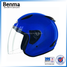 Azul oscuro scooter casco casco integral