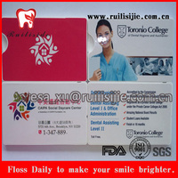 FDA Certificated Credit Card Dental Floss used as promotional gifts