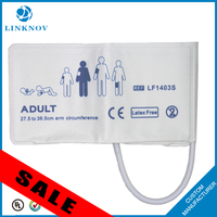 Disposable Adult/Infant Arm NIBP Cuff Without Bladder Single Tube Non-woven Fabric Compsited PVC Appearance Coating