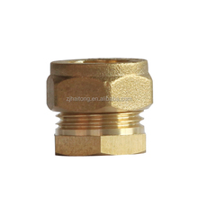 Brass compression fitting coupling for water copper pipe