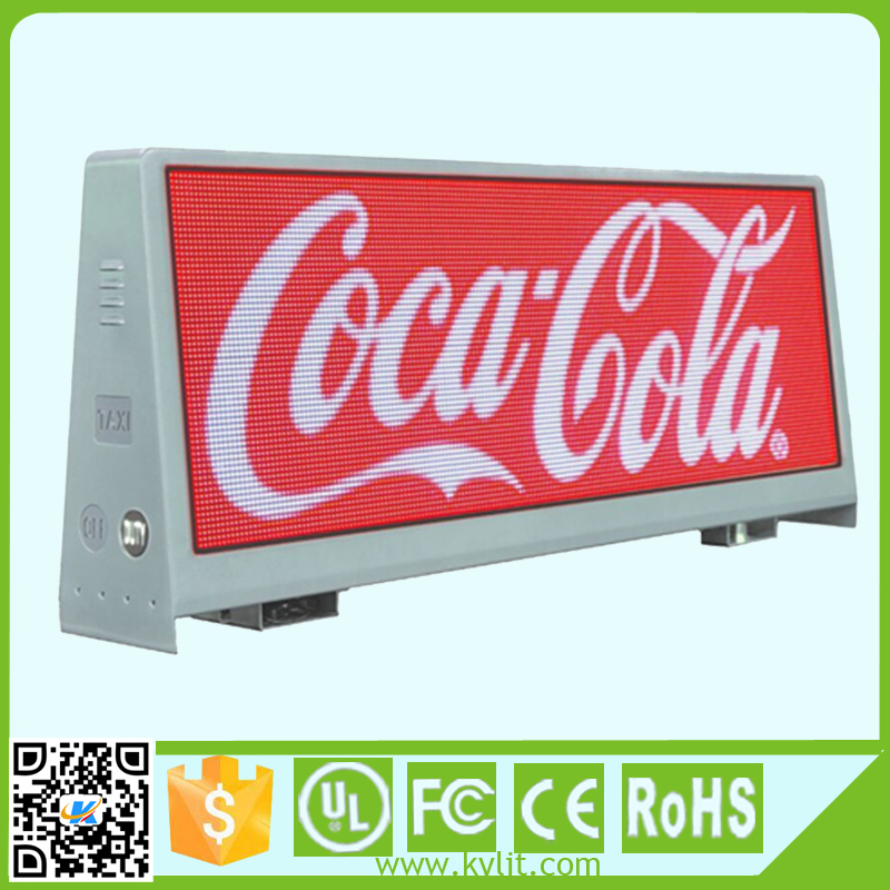 Shenzhen smd full color led display outdoor wireless taxi led top light display of p5 xx hd video