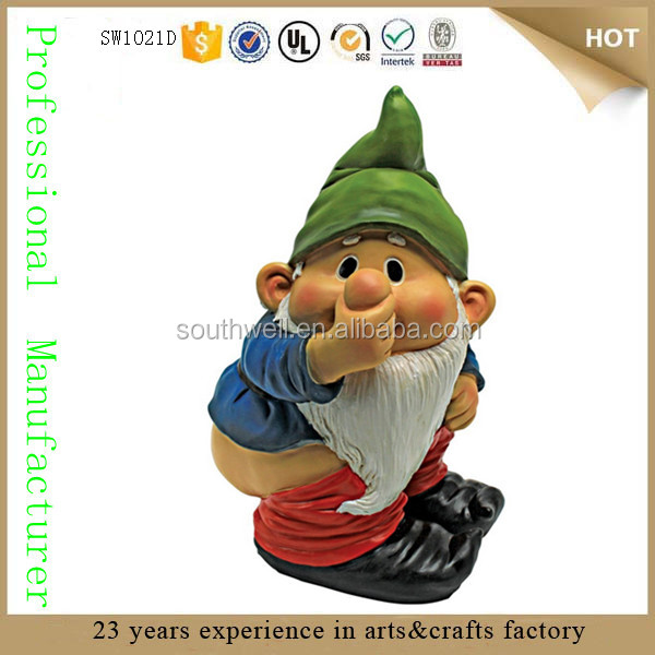 wholesale cheap resin small gnomes figure garden gnome resin figurine garden gnome statue