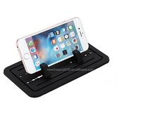 Desktop Cell Phone Mount Holder Cradle Dock,New Silicone Pad Dash Mat For Phone Samsung S5/S4/S3/iPhone 4/5/5s/6/6S(plus) and GP
