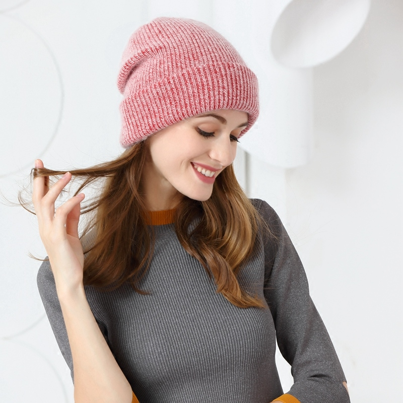 Fashion womens winter and summer hats with embroidery