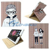3D Glasses Lover Boy and Girl Wallet Leather Case for iPad 3 2