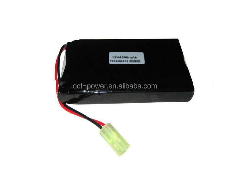 lithium ion battery 12v light weight battery packs 4500mAh lithium ion battery 12v
