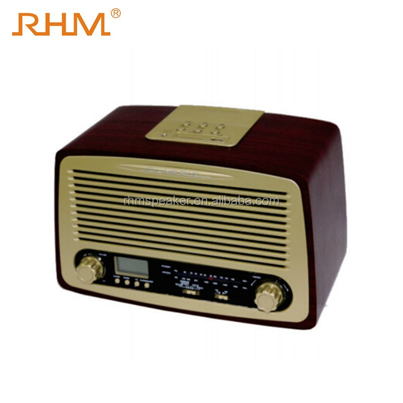 2017 hot seller Retro am fm portable radio with USB SD