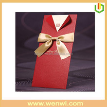 Customized design handmade wedding card box for packaging