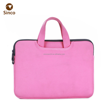 2017 Hot promotional fashion 12 inch neoprene soft laptop bag