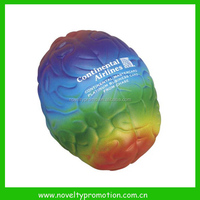 Brain shaped squeeze stress ball