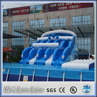 Nice Open Inflatable Water Slide For Commercial