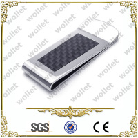 2014 new promotion products carbon fiber stainless steel and titanium money clip