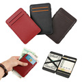 Wholesale price pu leather front pocket wallet for mens