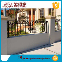 modern ornamental strong quality used iron tube fence panel / american luxury double swing aluminum fencing for garden driveway