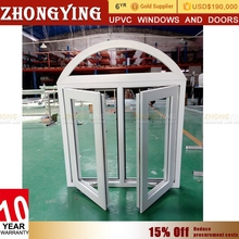 China Price Pvc Profile Double Glazed Sqare Parts Vinyl Glass Upvc Window , Casement Plastic Profile Louver Pvc Windows