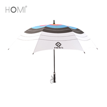 Chinese fashion design advertising auto open golf umbrella with pvc handle