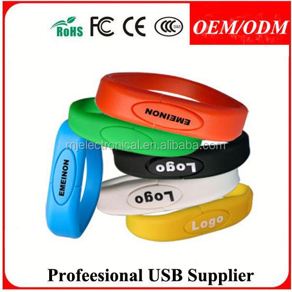 custom logo political election promotional gift bracelet usb pen drive , custom usb drive gift with logo products