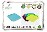 beautiful creative unbreakable in China environmental unbreakable bamboo fibre plate