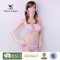 China Factory Breathable Hot Lady Lace Trim Nylon Sexy Panties For Men