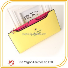 2015 Hot selling Ladies Beautiful Engraved Leather Wallet with kinds of colors