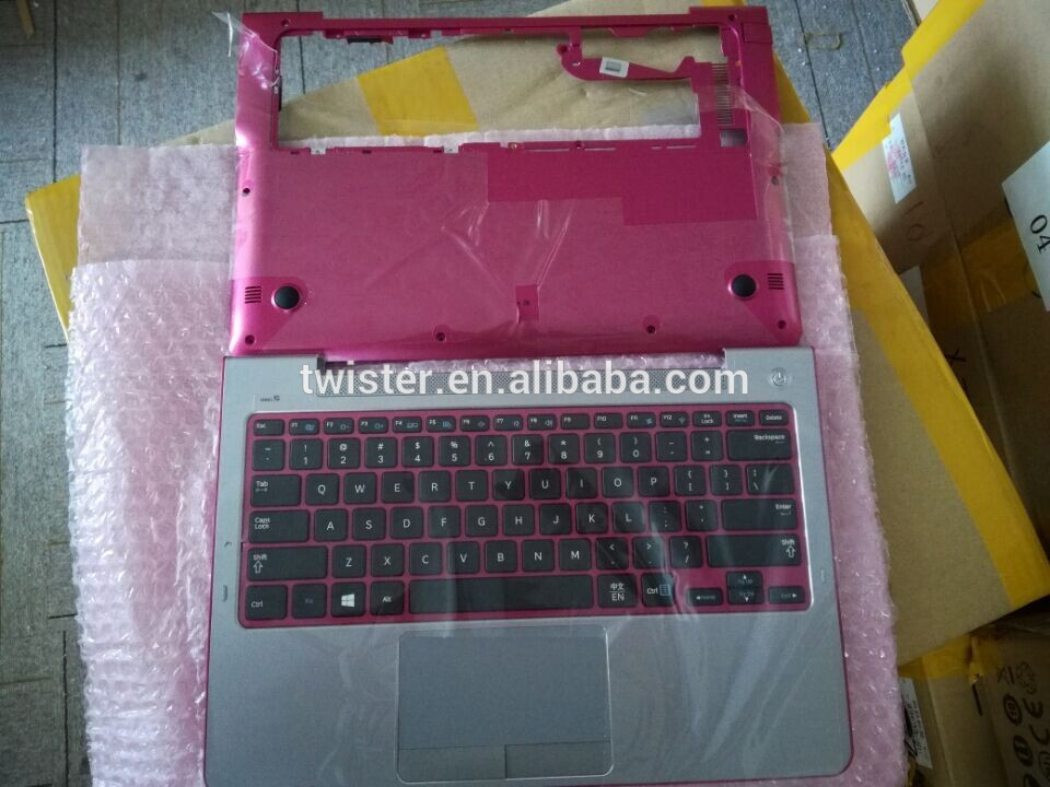 Laptop ABCD covers for samsung 530U3C NP530U3C NP530U3B 530U3B Notebook Top Bazzel palrest bottom cover with us keyboards Red