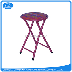 Best Quality portable round metal frame shoe stool